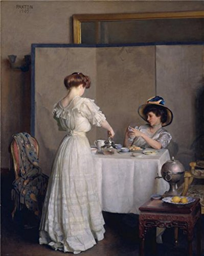 'William McGregor Paxton-Tea Leaves,1909' Oil Painting, 16x20 Inch / 41x51 Cm ,printed On Perfect Effect Canvas ,this Replica Art DecorativePrints On Canvas Is Perfectly Suitalbe For Garage Decoration And Home Gallery Art And Gifts