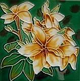 Tile Craft 6 X 6 INCH PLUMERIA CERAMIC TILE BY