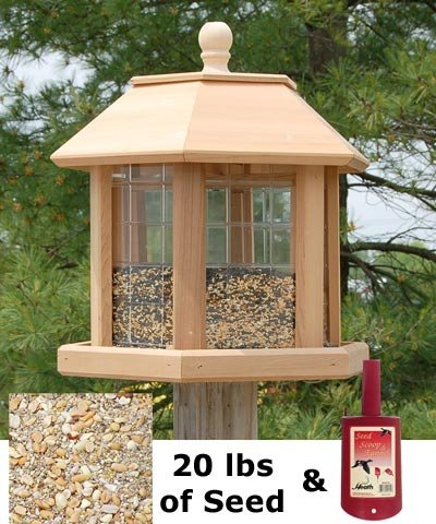 (BestNest Heath Le Grande Gazebo Bird Feeding)