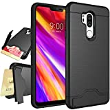 LG G7 Case,LG G7 ThinQ Case,NiuBox Armor [Card Slot Wallet] [Kickstand] Full Body Shock Absorption Protective Phone Case Cover for LG G7 Thinq (2018 Verizon) Black