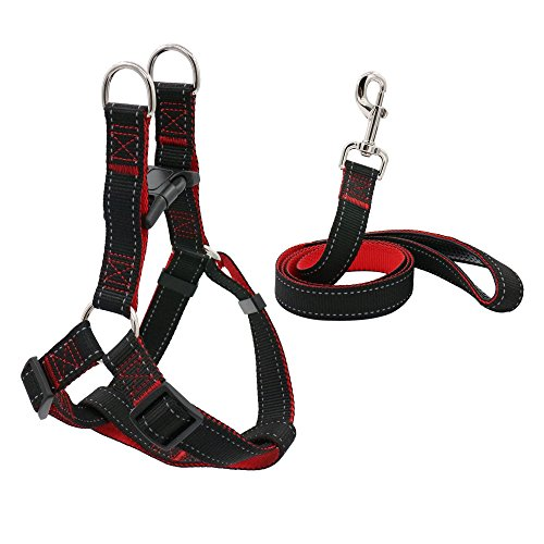 Reflective dog leash wtih Step-in Dog Harness Set, Adjustable Size fits Medium, Medium Small dogs, Extra Long Durable Design (Medium Dog Harness Step In compare prices)