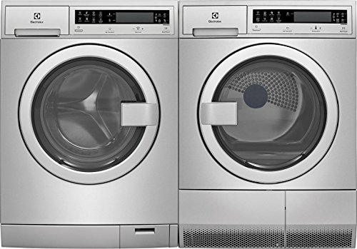 Electrolux Stainless Steel Front Load Compact Laundry Pair with EFLS210TIS 24″ Washer and EFDE210TIS 24″ Electric Dryer