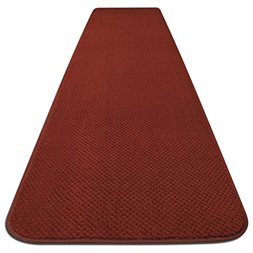 Brick Red Runner Rug - House, Home and More Skid-resistant Carpet Runner - Brick Red - 12 Ft. X 27 In. - Many Other Sizes to Choose From
