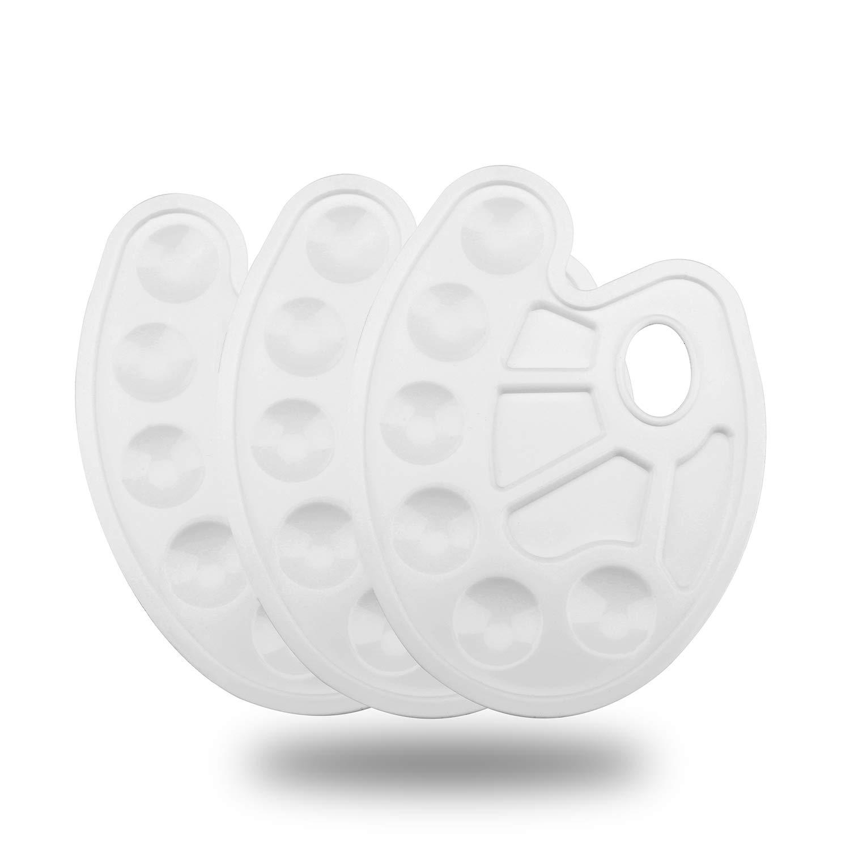 Hundor Paint Tray Palettes Art Palette for Painting White - 3 Pack by Hundor
