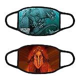 2pcs Godzilla Protection Cloth Face Bandana Shield