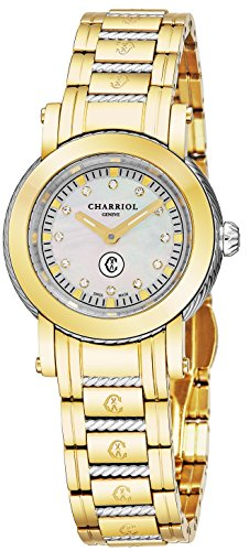 Charriol Parisii Womens Two Tone Stainless Steel Yellow Gold Watch