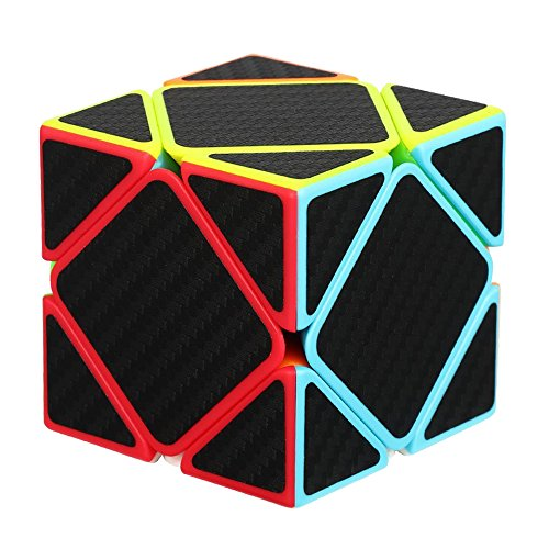 Zcube Skewb Speed Cube Puzzle with Carbon Fiber Sticker,Cube Shapes Puzzle Toy