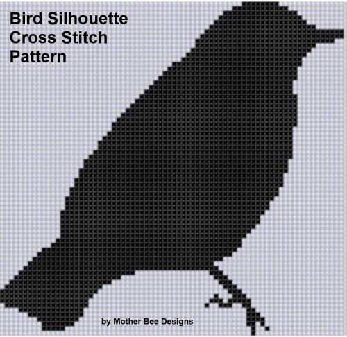 Bird Silhouette Cross Stitch Pattern