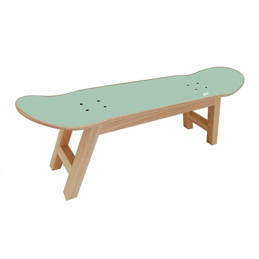 Skateboard Stool for the Best Bedroom for Skateboarder / Surfer Teen - Mint color
