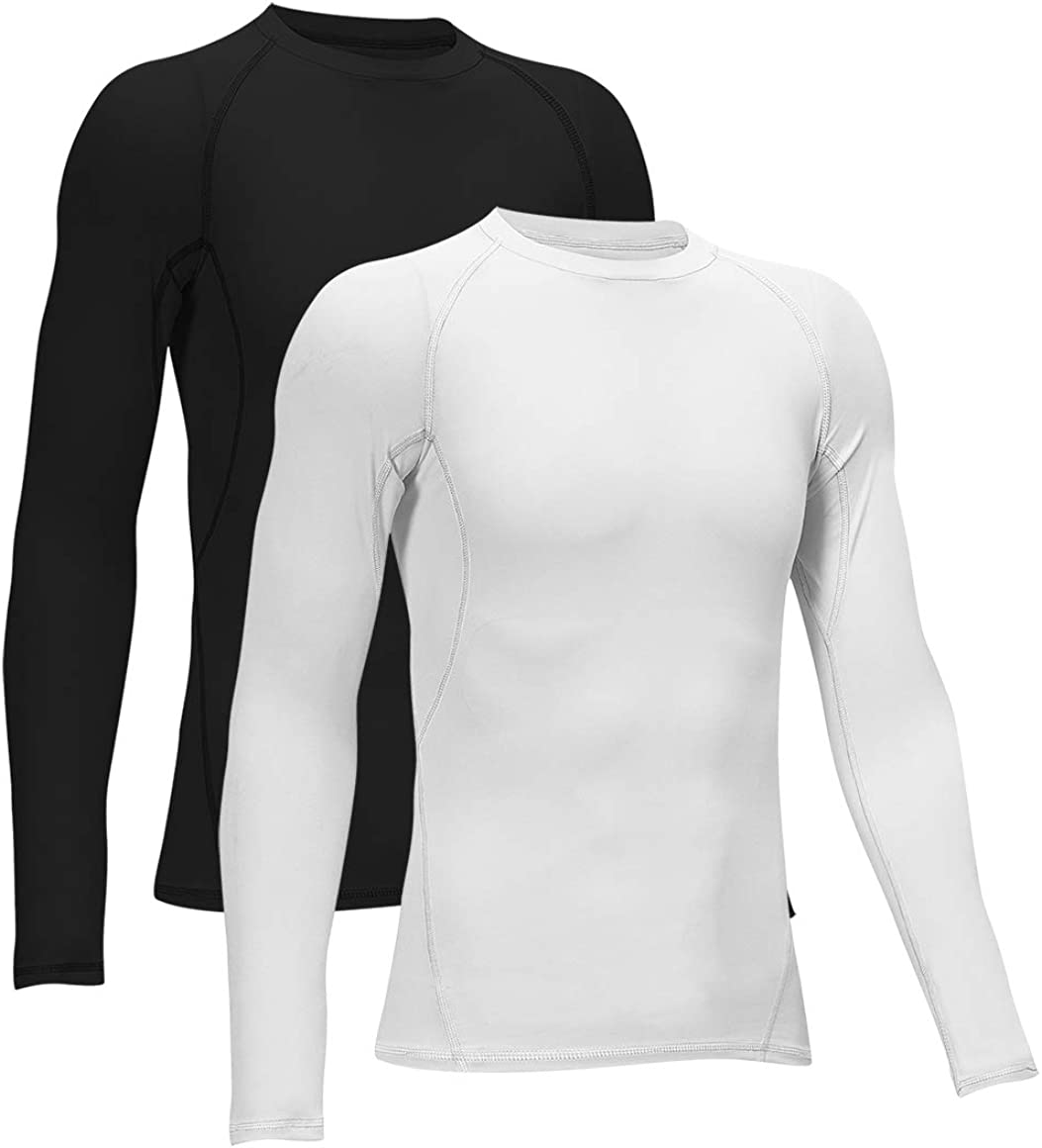 TELALEO Boys' Girls' Compression Shirts Youth Long Sleeve Undershirt Sports Dri Fit Moisture Wicking Baselayer
