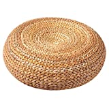 Seat Cushion Suitable for Balcony Meditation pad Rattan Weaving Cushion Suitable for Parties (3-5 People) Furniture Accessories (Color : Wood Color, Size : 501850cm)