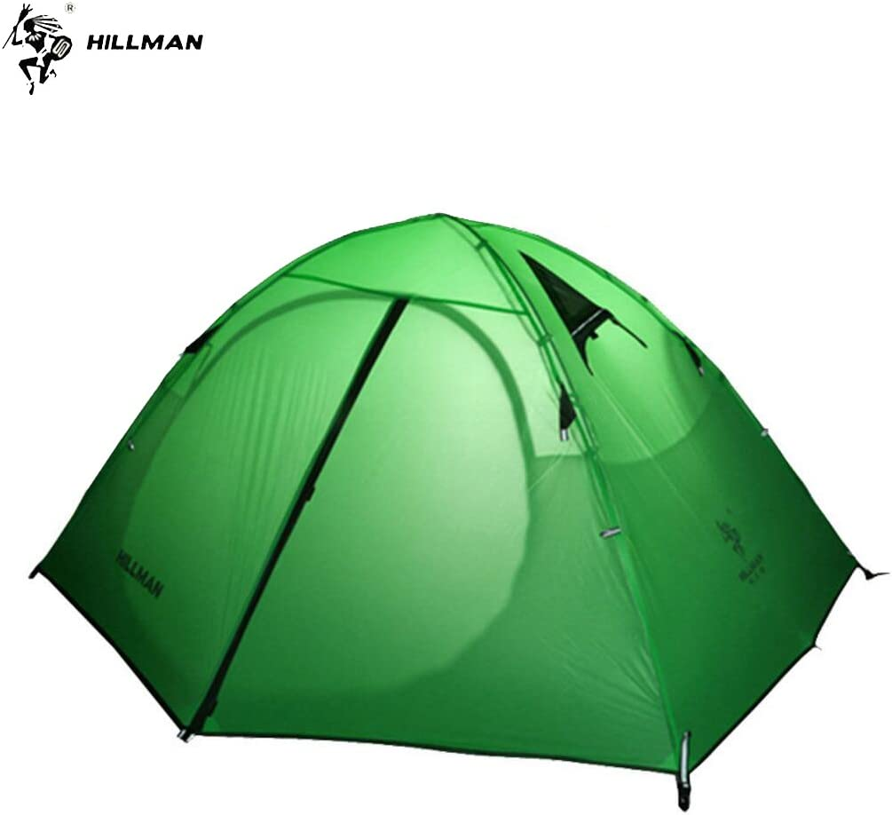 TAOYA Hillman Tent, 2 Person, 3 Season, 20D Double Layer Silicone,Portable Lightweight Durable Waterproof 8000 mm, Windproof, Camping, Backpacking, Fishing, Barbecue Tent.