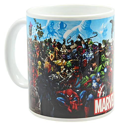 Marvel Superheroes and Villains Ceramic Coffee Mug 11 oz. Beverage Cup]()