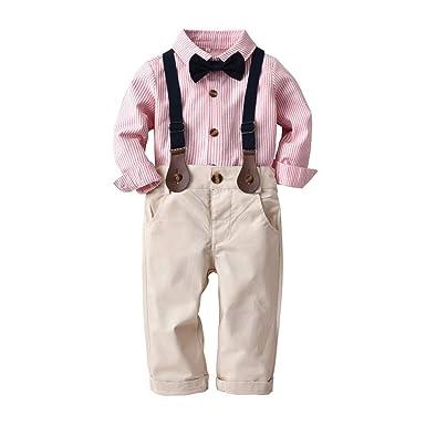 39edcc6ccbc17 Lucaso ベビー服 男の子 スーツ ストライプ フォーマル セレモニー衣装 洋服 紳士服 長袖 子供服 赤ちゃん 可愛い