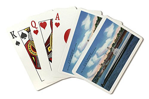 Groton, Connecticut - USS Nautilus View, First Atomic Submarine (Playing Card Deck - 52 Card Poker Size with Jokers)