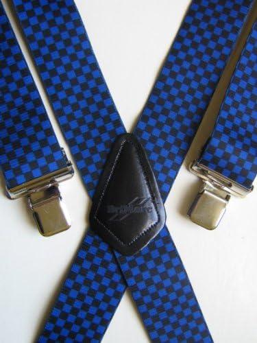 Tirantes para hombre con estampado de bandera de cuadros en azul/diseño negro mktools de: Amazon.es: Bricolaje y herramientas