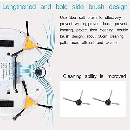 Robot Aspirateur et Mop Smart Control à distance robotique aspirateur avec 1200Pa aspiration forte for Pet cheveux Tapis for planchers durs HRTT