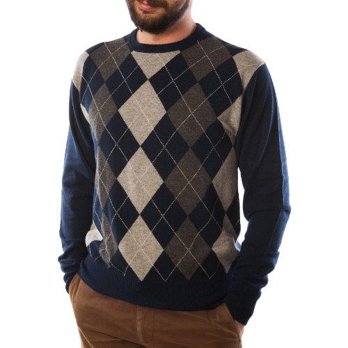 Dunedin Cashmere - Pull -  Homme Multicolore Bigarré -  Bleu - Bleu marine - XS