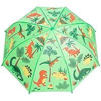 Babalu Kids Umbrella - Childrens 18 Inch Rainy Day Umbrella - Dinosaurs