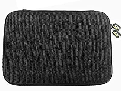 """AZ-Cover 10-Inch Tablet Semi-rigid EVA Bubble Foam Case (BLACK) For ViewSonic g 10"""" Multi-Touch LCD Screen Android + One Capacitive Stylus Pen"""