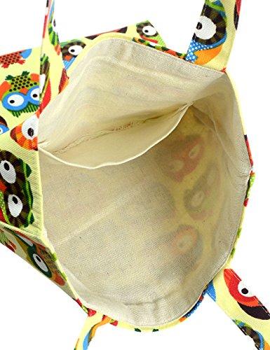 Cute Fashion 1 Canvas Owl Cotton owl Pure Owl Tote POPUCT 1 Bag 5Hxwqzdf5F