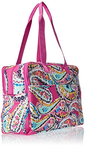 Vera Bradley Iconic Deluxe Weekender Travel Bag, Signature Cotton by Vera Bradley (Image #2)