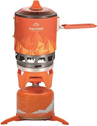 WILD-WIND Star X3 Outdoor Cooking System Portable Camping Stove with Piezo Ignition Pot Support. Emergency Fire Also