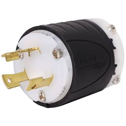 nema l6 30p plug rated for 20 amps, 250v, 3 wire iron box part ibx l630p 30 amp 250 volt plug wiring diagram ac works 30 amp 250 volt nema l6 30r