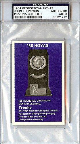 John Thompson Signed 1984 Georgetown Hoyas Card
