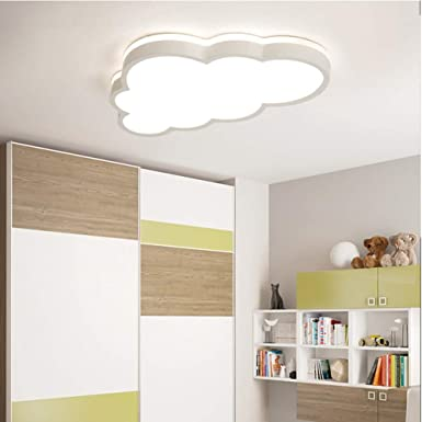 BEHWU LED Techo de la nube Regulable, Tama/ño: 58 * 5.7CM 2880 l/úmenes para ni/ños y ni/ñas L/ámpara de techo de dormitorio de Nursery techo de 360 /°