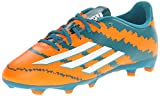 adidas Performance Messi 10.3 Firm-Ground J Soccer Cleat (Little Kid/Big Kid), Power Teal Running White/Warning, 6 M US Big Kid