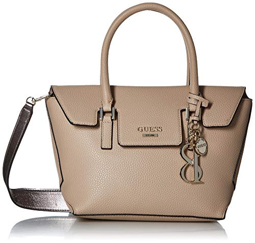 GUESS West Side Pebble Flap Satchel, tan