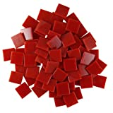 Jennifer's Mosaics Red 3/4-Inch Venetian Style Glass Mosaic Tile, 8-Ounce