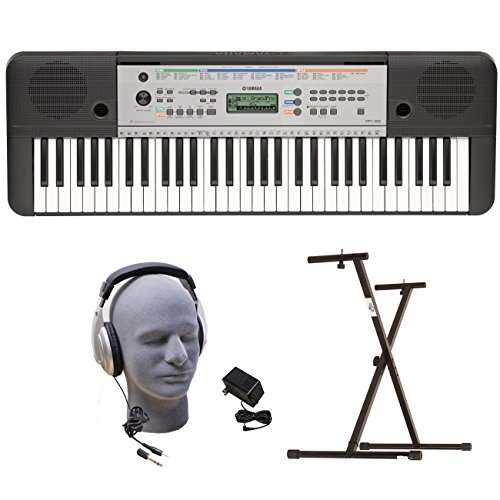 Yamaha YPT255  61-Key  Keyboard Pack with Headphones, Pow...