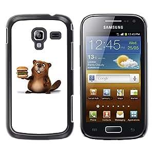 Be Good Phone Accessory // Dura Cáscara cubierta Protectora Caso Carcasa Funda de Protección para Samsung Galaxy Ace 2 I8160 Ace II X S7560M // Friendly Beaver Burger