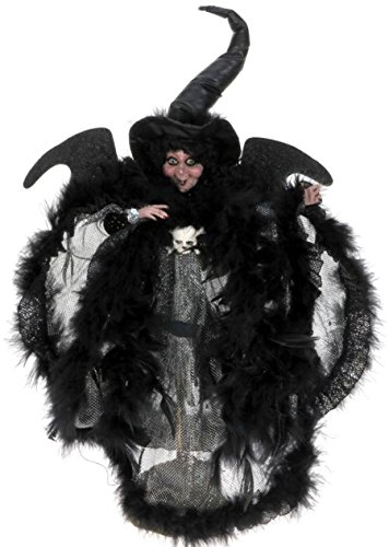 Mark Roberts Halloween Eerie Silver Night Witch Sm 12