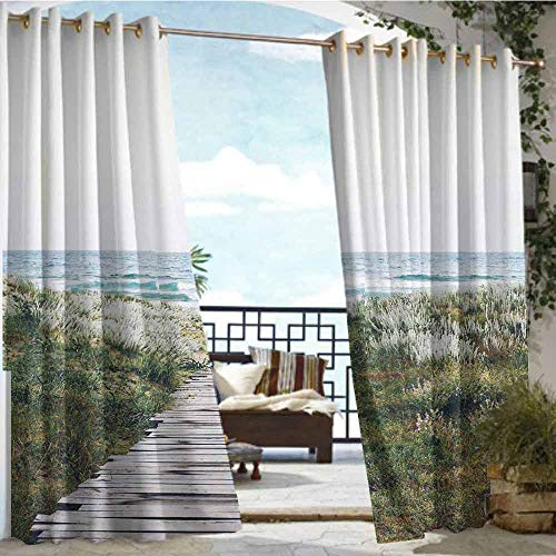 Price comparison product image Andrea Sam Outdoor Privacy Curtain for Pergola Sentence of Lost, W84 xL108 for Front Porch Covered Patio Gazebo Dock Beach Home