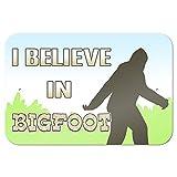 """I Brake for Bigfoot - Sasquatch 9"""" x 6"""" Metal Sign"""