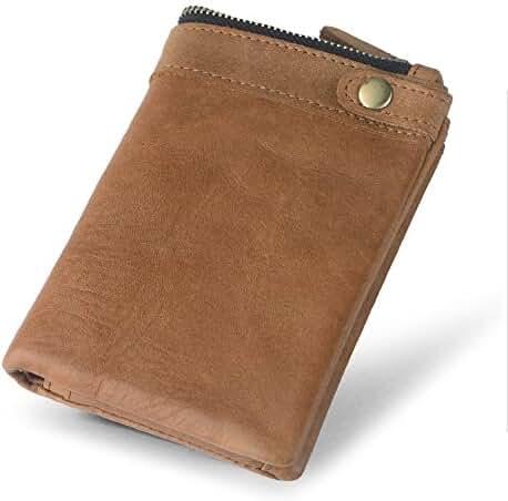 AYOUYA Genuine Leather Wallet Card Holder Bifold Wallet Men's Wallet