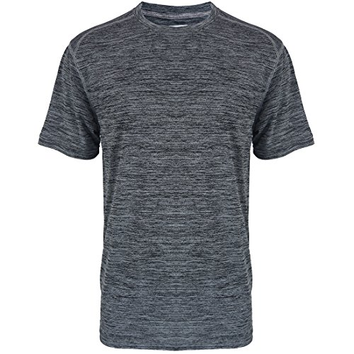 Sports T-Shirts for Men Quick Dry Wicking Workout Athletic Running Training Tee Active Tops Sportswear Charcoal