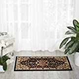 Nourison Delano DEL04 Traditional Oriental Persian Black Accent Area Rug, 2′ x 3′ Review