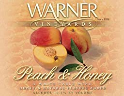 2012 Warner Vineyards Peach & Honey Wine 750 mL