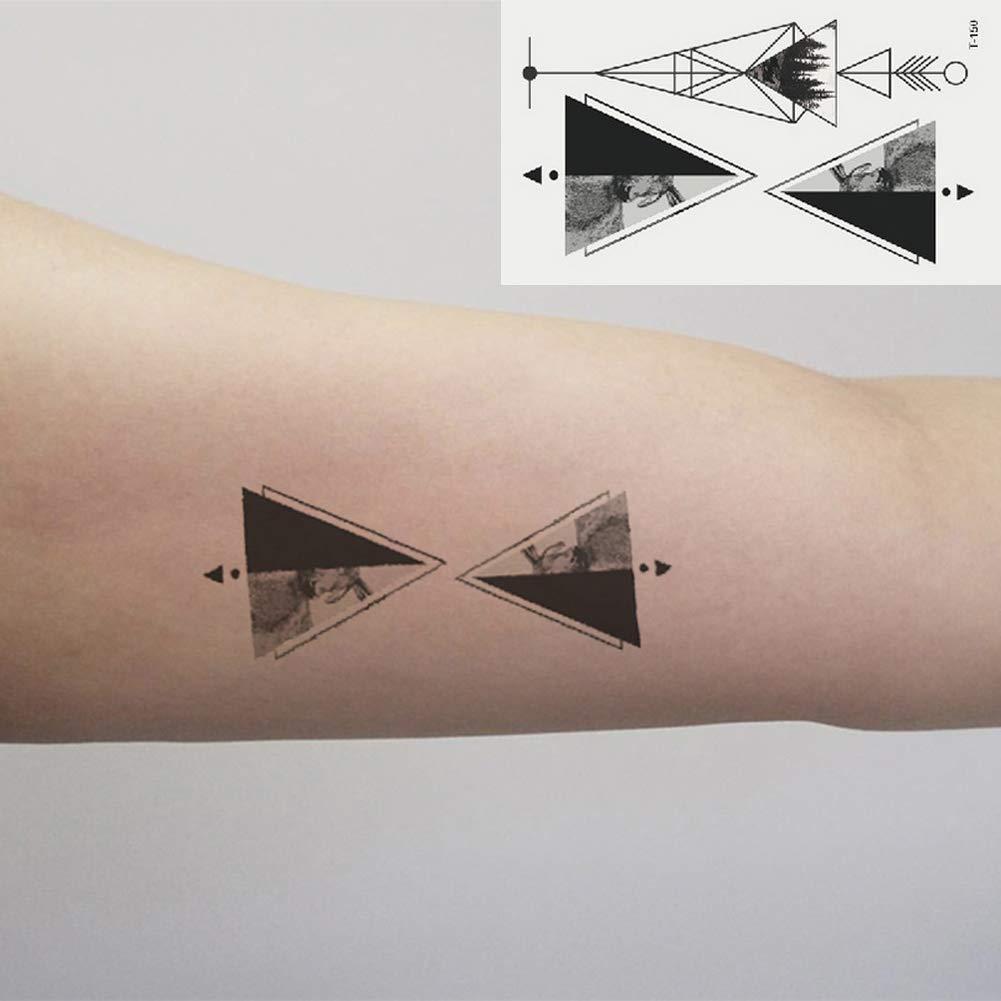 Oottati 2 Hojas Pequeño Lindo Tatuaje Temporal Tattoo Triángulo ...