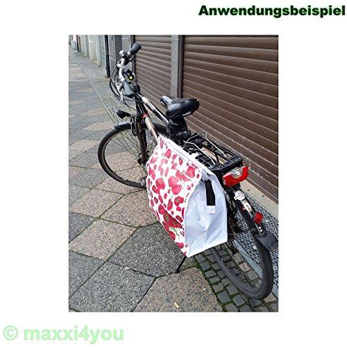 01170428 Fahrrad Gepäckträgertasche Seitentasche Tasche Weiß Mohnblume 16 mm