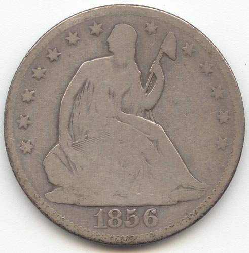 1856 O Seated Liberty Half Dollar Good ()