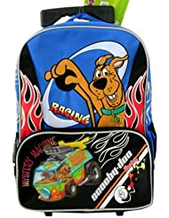 Scooby Doo ~ Racing in the Mystery Machine ~ Large Full Size Rolling Backpack with Wheels
