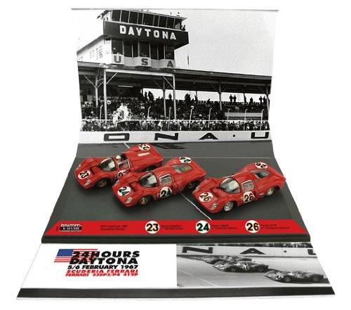 1/43 フェラーリ 330P3/P4/412P 1967年デイトナ24時間 スクーデリア・フェラーリ (#23 #24 #26/1位 2位 3位) 3台セット ドライバー乗車仕様 AS55