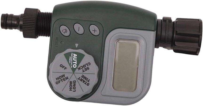 Práctico LCD Temporizador electrónico de Agua Controlador de riego Inteligente Accesorios para riego automático de Jardines: Amazon.es: Hogar