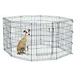 Midwest Homes for Pets Exercise Pen for Pets with Full Max Lock Door, 36-Inch, Black