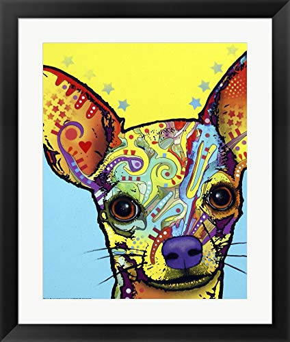 (Chihuahua I by Dean Russo Framed Art Print Wall Picture, Black Frame, 20 x 24 inches )